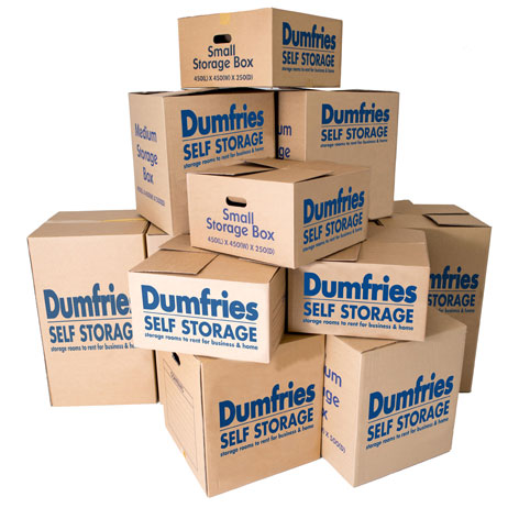 Moving Pack Boxes From Dumfries Self Storage
