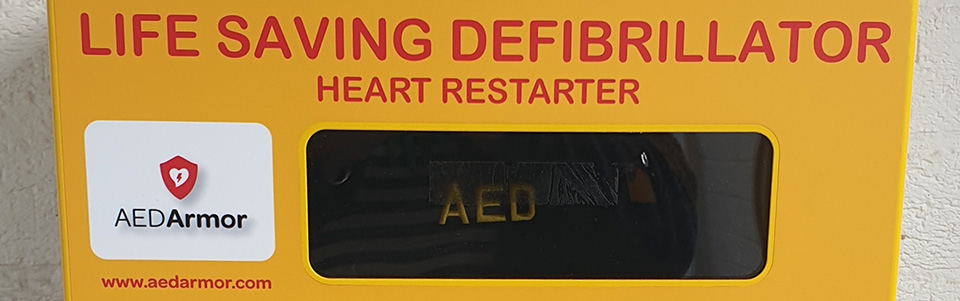 Heathhall Business Centre - Life Savings Defibrillator Installed