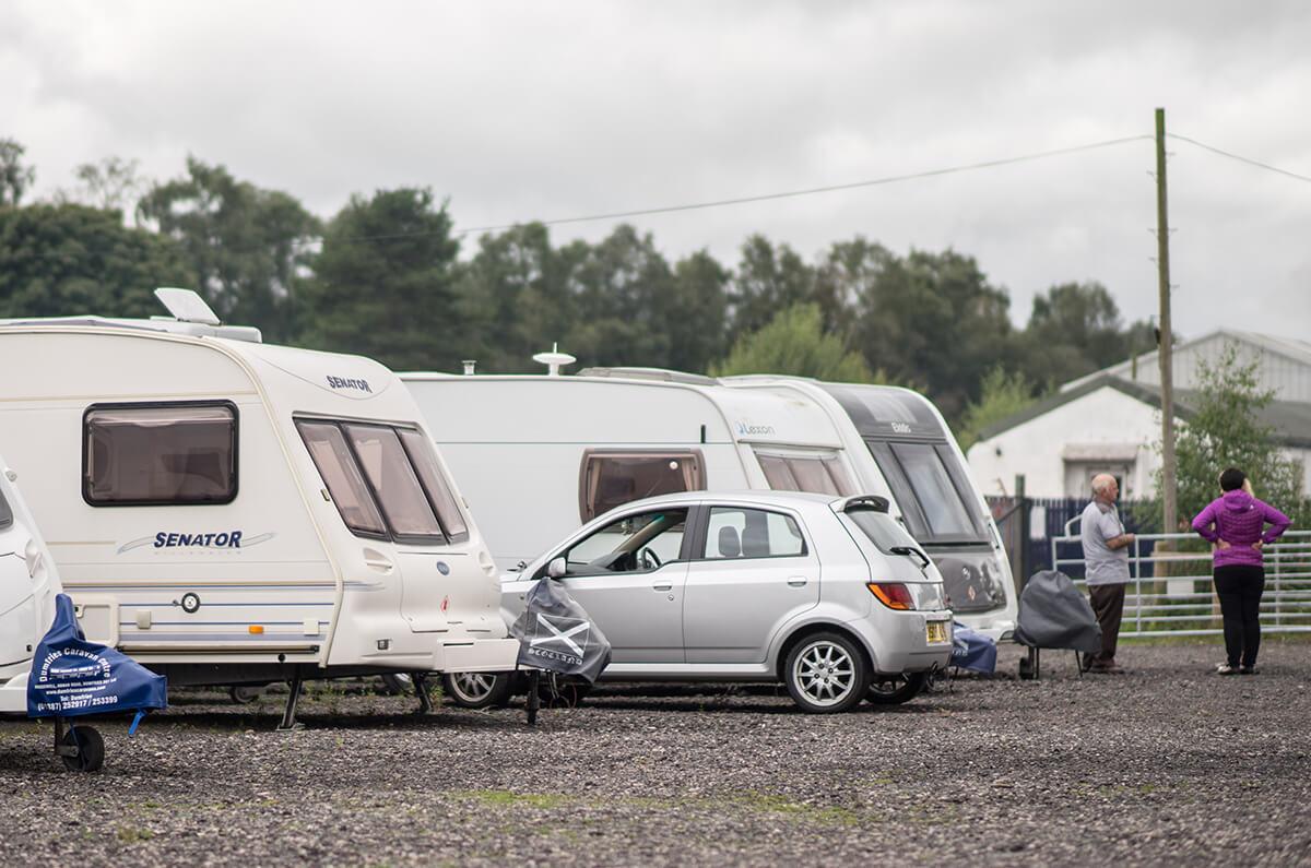 Caravan Storage At Heathhall Dumfries - caravans stored